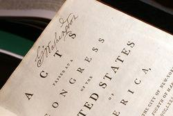 Личный экземпляр Конституции США Дж. Вашингтона