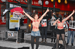 Коммунистки Ирана используют методы FEMEN, протестуя против хиджабов
