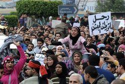 Массовые протесты под министерством обороны Египта