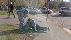 Московский полицейский-водитель избил пешеходов