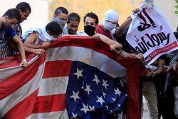На посольство США напали