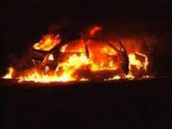 Неизвестные сожгли два авто в городе Кременчуг