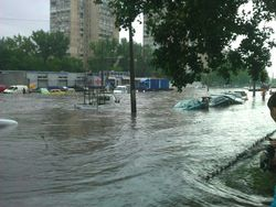 Одесса под водой