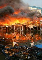 Масштабный пожар на Филиппинах