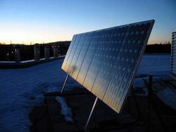 Солнечные батареи из черного кремня
