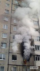 возгорание в 9-этажке