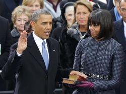 Барак и Мишель Обама на инаугурации