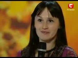 Участница шоу Україна має талант Оксана Самойлова