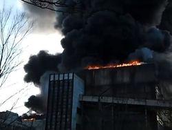 Светлодарск: ТЭС горит, жителям раздают обогреватели