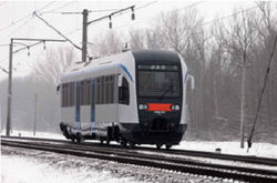 В Беларуси появился автобус на рельсах