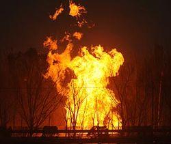 В Азербайджане взорвался участок газопровода
