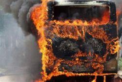 возгорание автобуса