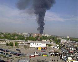 В Харькове горел шестиэтажный жилой дом
