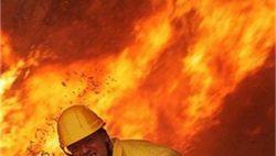 В Индонезии загорелся пассажирский автобус