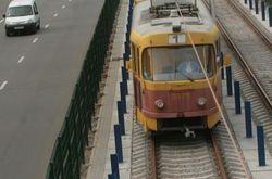 Возгорание контактной сети на линии трамвая