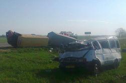 В Крыму столкнулись микроавтобус и маршрутка, есть погибшие