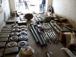 Тайник с гранатами, минами и патронами