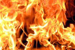 Сгорел полуразрушенный дом