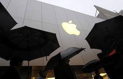 Упали акции Apple