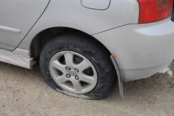 пробитые колеса