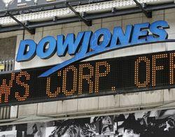 Насколько упал Dow Jones?
