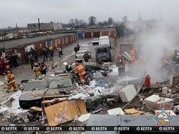В Минске рванул газ в гаражном кооперативе