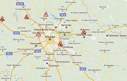 О проблемах на подмосковных дорогах можно узнать на карте