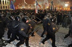 Митингующих в Минске избили и увезли