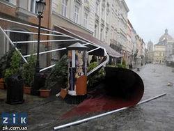 Ливни с градом пришли с Европы во Львов
