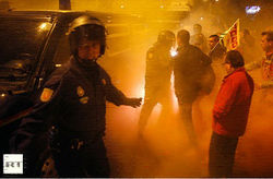 Митинги в Испании перерастают в беспорядки, есть раненые