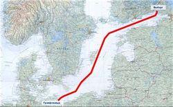 Газопровод по дну Балтики преодолел ¾ пути