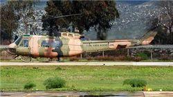 В Турции рухнул армейский вертолет UH-1