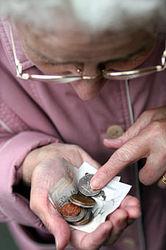 В Украине не менее 8 миллионов пенсионеров получают менее 1 тысячи гривен