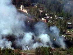 В сгоревшем военном складе найдено тело солдата