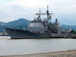 Скандальный американский крейсер теперь в Батуми