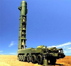 Россия запустила баллистическую ракету