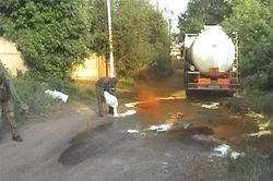 В Черкассах посреди улицы испарялась азотная кислота – последствия