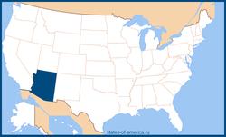 Аризона на карте США