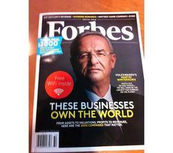 Вышел оригинальный номер Forbes... со встроенным Wi-Fi роутером