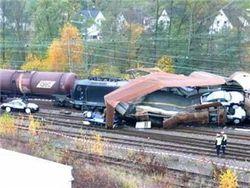 Крупная авария на железной дороге в Германии, есть погибшие