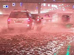 За несколько часов в Москве выпала четверть месячной нормы осадков