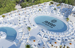 Пляж на крыше ТРЦ Ocean Plaza