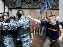 Милиция назвала ВО Свобода главным провокатором в центре Киева