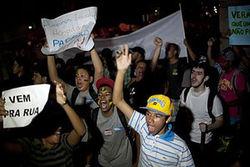 Деонстрации протеста в Бразилии