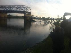 Обрушившийся мост в Вашингтоне