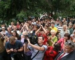 Нардеп от партии УДАР присоединился к маршу жителей Врадиевки