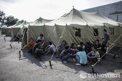 Лагерь для нелегальных мигрантов в Москве