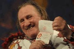 Жерар Депардье с росссийским паспортом