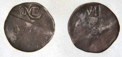 Монета 1652 года