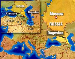 Дагестан карта